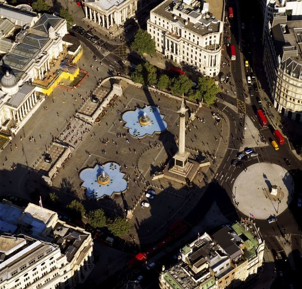 AW-6631 Aerial image of London, England, UK Trafalgar Square, Nelson column Adrian Warren Please note that prints are for personal display purposes only and may not be reproduced in anyway