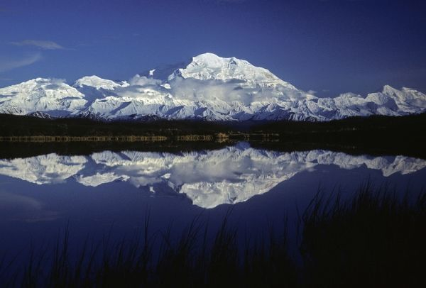 MG-889 Mt. McKinley (Denali) from Reflection Pond, Denali National Park, Alaska, North America. June, late evening Martin Grosnick Please note that prints are for personal display purposes only and may not be reproduced in any way