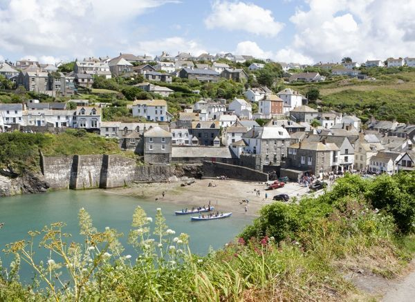 Harbour (known around the world as Port Wenn the home of Doc Martin is a British television comedy drama series starring Martin Clunes, on TV) Port Isaac, North Cornwall, UK Date