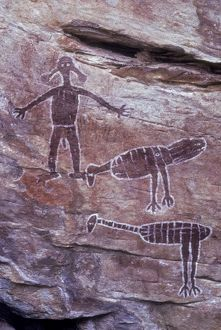 dec2014/1/aboriginal rock art emu brush turkey spirit