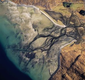 Aerial image of Scotland, UK: Barrisdale Bay