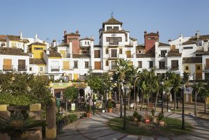 Andalusian architecture prevails in many contemporary ur
