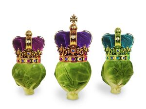 Brussels Sprouts - with crowns - 'We Three Kings'