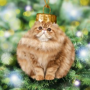 Cat - Christmas bauble. Digital Manipulation.