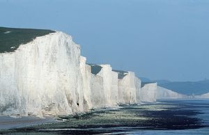CHALK CLIFFS - Seven Sisters, white cliffs of dover. East Sussex