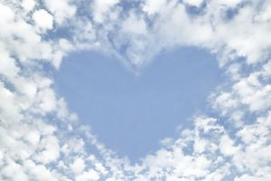 Clouds and sky - making heart shape