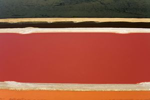 Evaporation ponds for the commercial extraction of sea salt