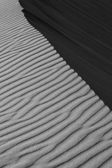 Pattern in the sand created by the wind