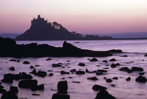ROG-5271-M St. Michael's Mount at sunset - Cornwall UK