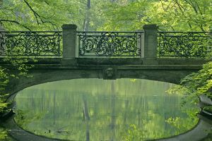 landscapes/romantic bridge baroque style reflecting brook