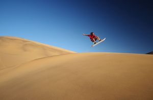 Sandboarding in the Namib