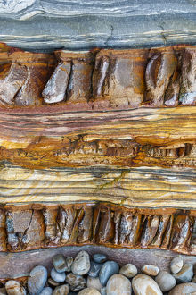 Sedimentary Rock strata abstract background pattern