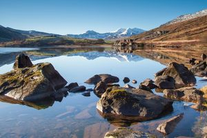 Snowdon horseshoe and mirror reflections taken
