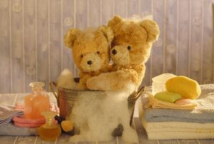 Teddy Bear - x2 teddies at bathtime