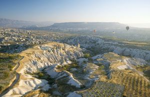 Turkey - View of Goreme and Bozdag Mountain behind