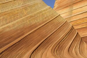 The Wave, naturally carved in beautiful red and yellow striated soft Navajo sandstone.