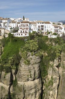 The White Town of Ronda high above the river gorge El Ta